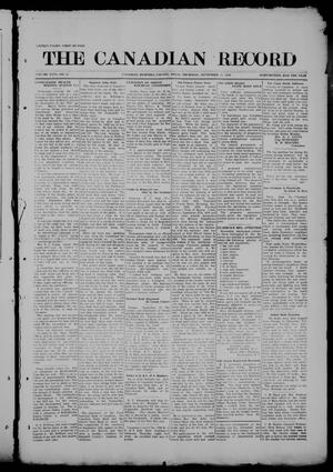 Primary view of object titled 'The Canadian Record (Canadian, Tex.), Vol. 26, No. 51, Ed. 1  Thursday, September 25, 1919'.