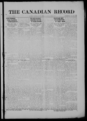 Primary view of object titled 'The Canadian Record (Canadian, Tex.), Vol. 27, No. 2, Ed. 1  Thursday, October 16, 1919'.