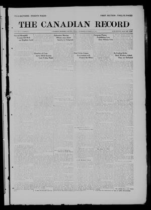 Primary view of object titled 'The Canadian Record (Canadian, Tex.), Vol. 27, No. 4, Ed. 1  Thursday, October 30, 1919'.