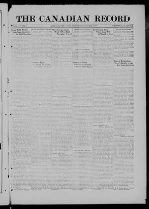 Primary view of object titled 'The Canadian Record (Canadian, Tex.), Vol. 27, No. 5, Ed. 1  Thursday, November 6, 1919'.