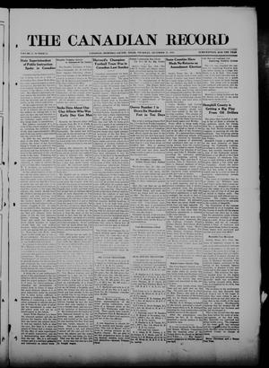 The Canadian Record (Canadian, Tex.), Vol. 27, No. 12, Ed. 1  Thursday, December 25, 1919