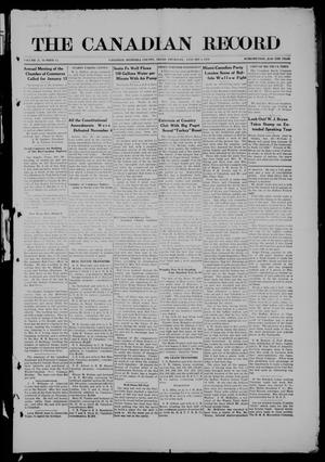 Primary view of object titled 'The Canadian Record (Canadian, Tex.), Vol. 27, No. 13, Ed. 1  Thursday, January 1, 1920'.