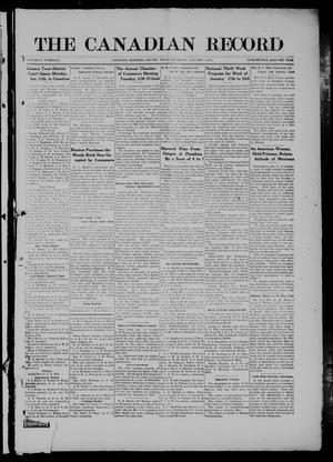 Primary view of object titled 'The Canadian Record (Canadian, Tex.), Vol. 27, No. 14, Ed. 1  Thursday, January 8, 1920'.