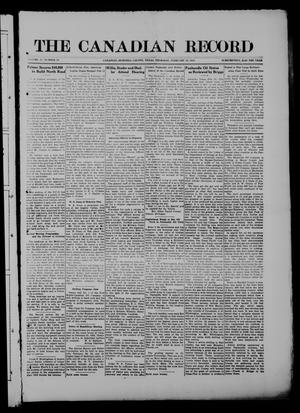 Primary view of object titled 'The Canadian Record (Canadian, Tex.), Vol. 27, No. 20, Ed. 1  Thursday, February 19, 1920'.