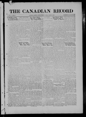 The Canadian Record (Canadian, Tex.), Vol. 27, No. 23, Ed. 1  Thursday, March 11, 1920