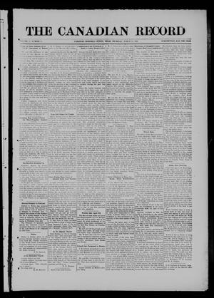 Primary view of object titled 'The Canadian Record (Canadian, Tex.), Vol. 27, No. 25, Ed. 1  Thursday, March 25, 1920'.