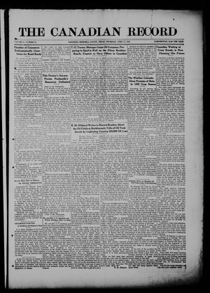 The Canadian Record (Canadian, Tex.), Vol. 27, No. 28, Ed. 1  Thursday, April 15, 1920