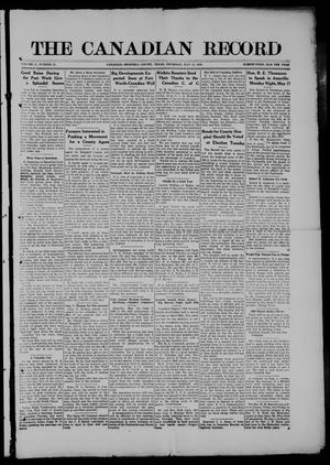 The Canadian Record (Canadian, Tex.), Vol. 27, No. 32, Ed. 1  Thursday, May 13, 1920