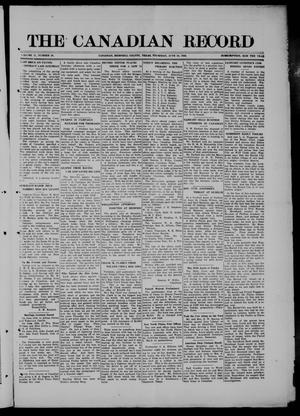 Primary view of object titled 'The Canadian Record (Canadian, Tex.), Vol. 27, No. 38, Ed. 1  Thursday, June 24, 1920'.