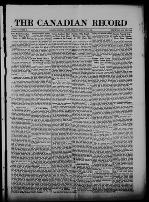 Primary view of object titled 'The Canadian Record (Canadian, Tex.), Vol. 27, No. 39, Ed. 1  Thursday, July 1, 1920'.