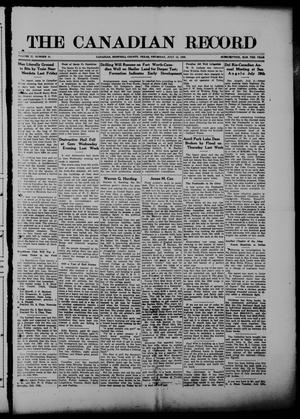 The Canadian Record (Canadian, Tex.), Vol. 27, No. 41, Ed. 1  Thursday, July 15, 1920