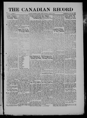The Canadian Record (Canadian, Tex.), Vol. 27, No. 45, Ed. 1  Thursday, August 12, 1920