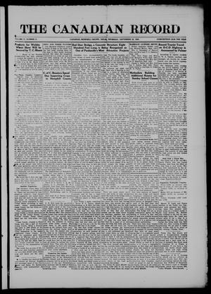 The Canadian Record (Canadian, Tex.), Vol. 27, No. 51, Ed. 1  Thursday, September 23, 1920