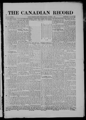 Primary view of object titled 'The Canadian Record (Canadian, Tex.), Vol. 28, No. 5, Ed. 1  Thursday, November 4, 1920'.