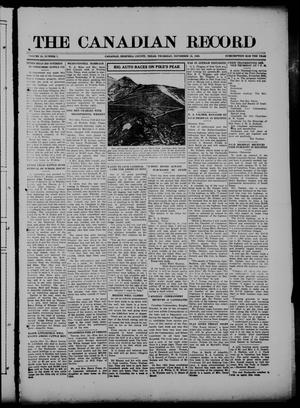 The Canadian Record (Canadian, Tex.), Vol. 28, No. 7, Ed. 1  Thursday, November 18, 1920