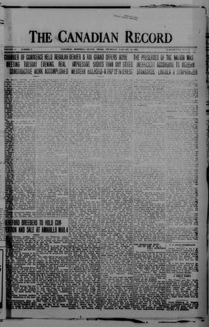 Primary view of object titled 'The Canadian Record (Canadian, Tex.), Vol. 33, No. 7, Ed. 1  Thursday, February 12, 1925'.