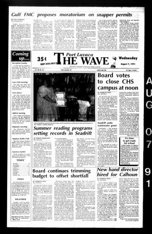 Primary view of object titled 'The Wave (Port Lavaca, Tex.), Vol. 100, No. 222, Ed. 1 Wednesday, August 7, 1991'.