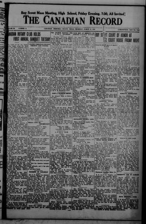 The Canadian Record (Canadian, Tex.), Vol. 34, No. 11, Ed. 1  Thursday, March 11, 1926