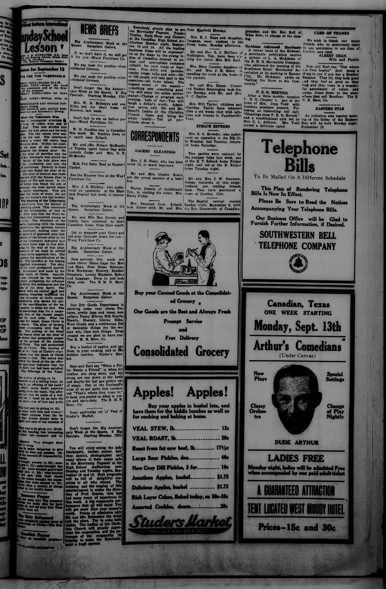 The Canadian Record (Canadian, Tex.), Vol. 34, No. 37, Ed. 1  Thursday, September 9, 1926                                                                                                      [Sequence #]: 5 of 8
