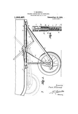 Foldable Landing Gear for Aeroplanes