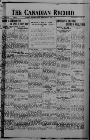 The Canadian Record (Canadian, Tex.), Vol. 37, No. 7, Ed. 1  Thursday, February 7, 1929