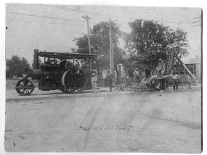 Primary view of object titled 'Laying the Base for Paving East Hickory'.