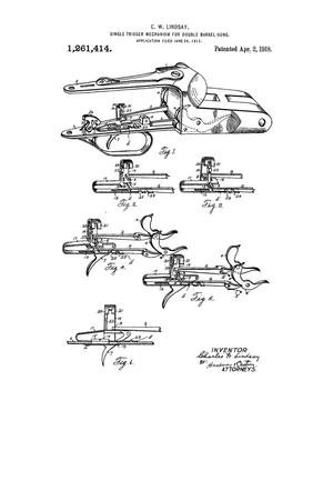 Single Trigger Mechanism For Double-Barrel Guns