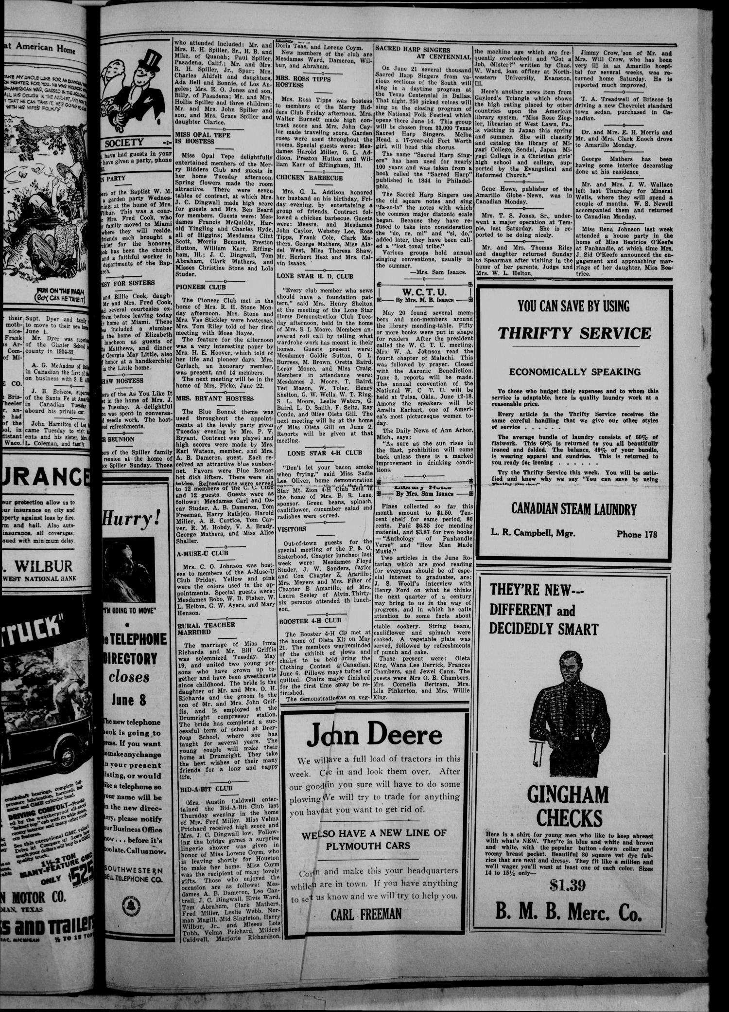 The Canadian Record (Canadian, Tex ), Vol  46, No  24, Ed  1