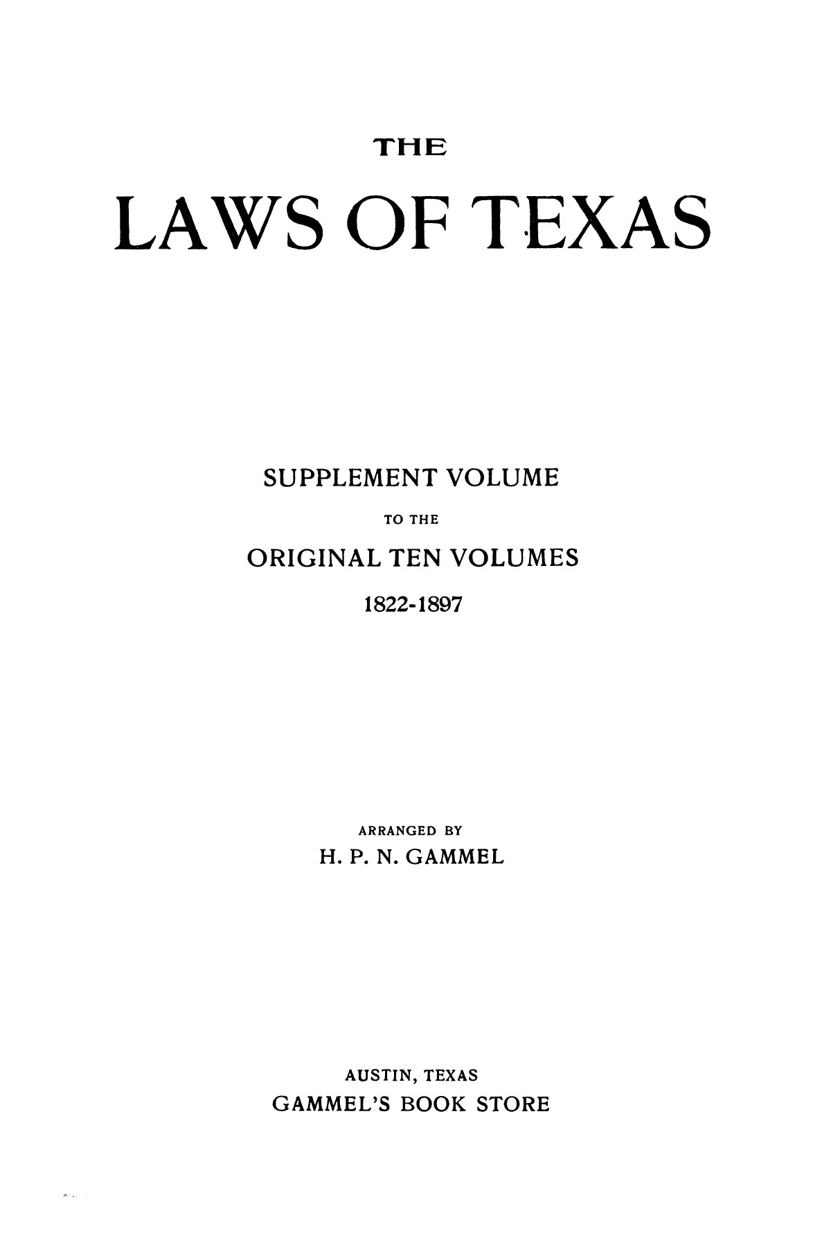 The Laws of Texas, 1917-1918 [Volume 18]                                                                                                      [Sequence #]: 1 of 1589