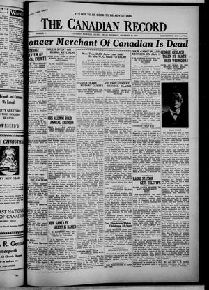 Primary view of object titled 'The Canadian Record (Canadian, Tex.), Vol. 49, No. 3, Ed. 1  Thursday, December 30, 1937'.