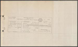 [Treasure Warrant Payable to John W. Stanford, Jr.]