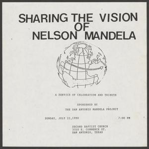 [Flyer: Sharing the Vision of Nelson Mandela]