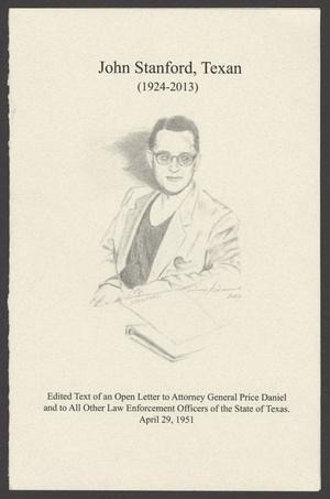 John Stanford, Texan (1924-2013)