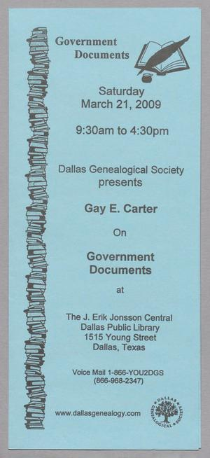 [Pamphlet for Government Documents]
