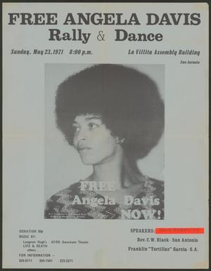 [Flyer for the Free Angela Davis Rally & Dance]