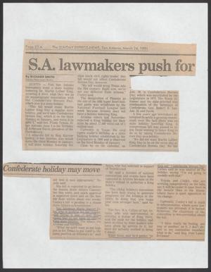 [Article Regarding San Antonio Opinions on Martin Luther King, Jr.]