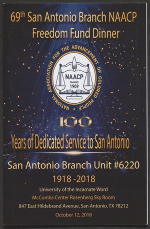 [Program: 69th San Antonio Branch National Association for the Advancement of Colored People Freedom Fund Dinner]