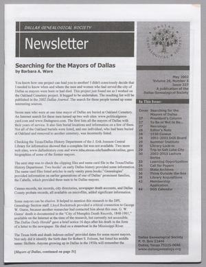DGS Newsletter, Volume 26, Number 3, May 2002