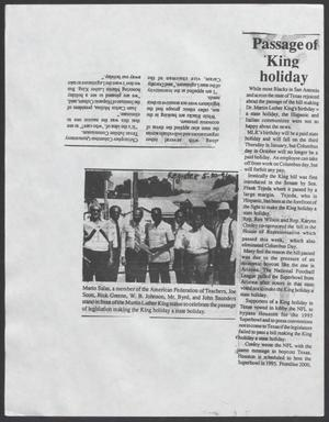 [Clipping: Passage of King Holiday]