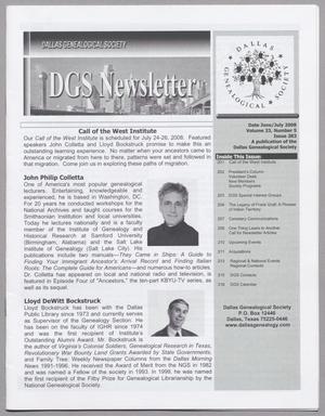 DGS Newsletter, Volume 33, Number 5, June/July 2008