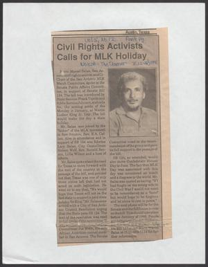 [Clipping: Civil Rights Activists Calls for MKL Holiday]