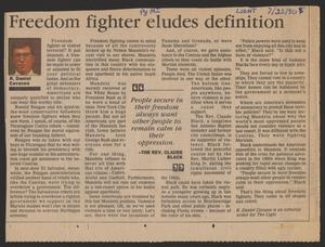 [Clipping: Freedom fighter eludes definition]