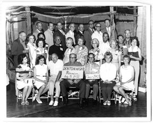 Primary view of object titled 'Denton High School Class of '42 Reunion'.