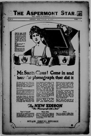 The Aspermont Star (Aspermont, Tex.), Vol. 23, No. 17, Ed. 1  Thursday, November 11, 1920