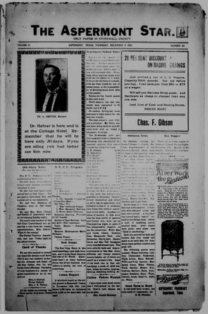 The Aspermont Star (Aspermont, Tex.), Vol. 23, No. 20, Ed. 1  Thursday, December 2, 1920