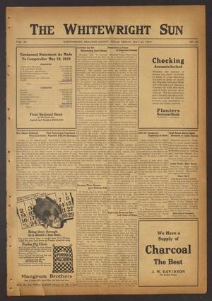 The Whitewright Sun (Whitewright, Tex.), Vol. 38, No. 46, Ed. 1 Friday, May 23, 1919