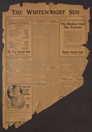 The Whitewright Sun (Whitewright, Tex.), Vol. 38, No. 27, Ed. 1 Friday, January 17, 1919