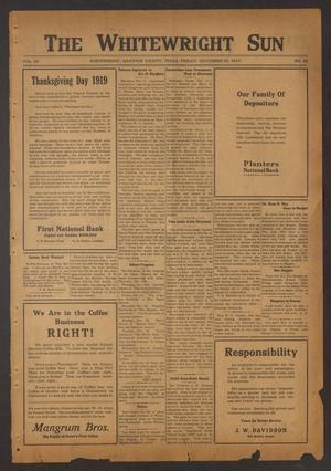 The Whitewright Sun (Whitewright, Tex.), Vol. 39, No. 20, Ed. 1 Friday, November 21, 1919