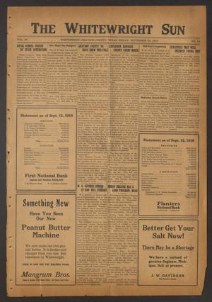 The Whitewright Sun (Whitewright, Tex.), Vol. 39, No. 12, Ed. 1 Friday, September 26, 1919