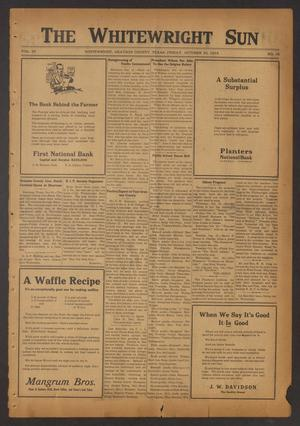 The Whitewright Sun (Whitewright, Tex.), Vol. 39, No. 16, Ed. 1 Friday, October 24, 1919